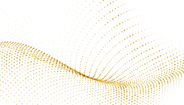 White background with golden sparkle wave