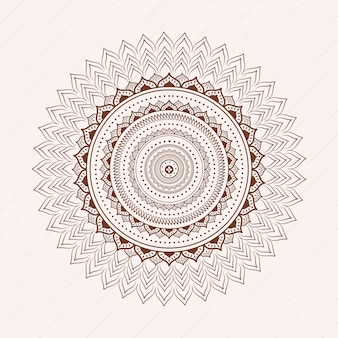 White background with mandala