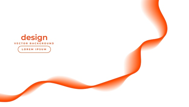 White background with orange flowing wavy lines