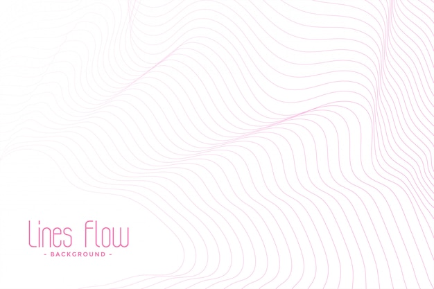 White background with pink flowing lines