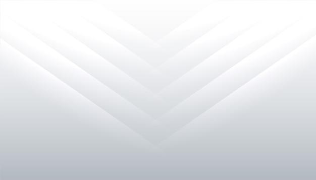 Sfondo bianco con linee lucide design