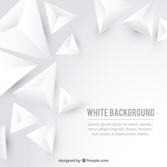 White background with triangles
