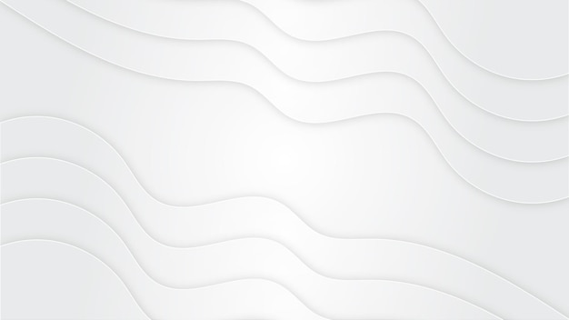 White background with wave shape
