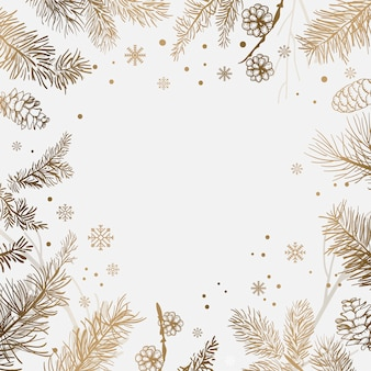 White background with winter decoration vector