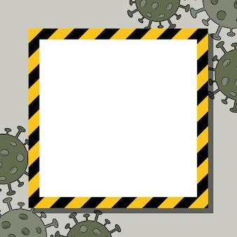 코로나바이러스 세포 covid19 실루엣 벡터 프레임의 흰색 backgroung 및 검은색 윤곽