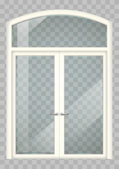 白いバルコニーのドア