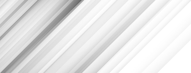 White banner background with diagonal lines