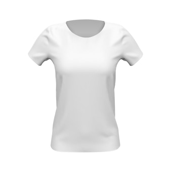 White basic women t-shirt