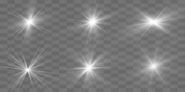 White beautiful light explodes with a transparent explosion. , bright illustration for perfect effect with sparkles. bright star. transparent shine of the gloss gradient, bright flash.