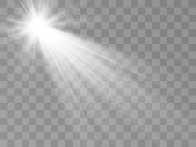 White beautiful light explodes with a transparent explosion.bright star. transparent shine of the gloss gradient, bright flash.
