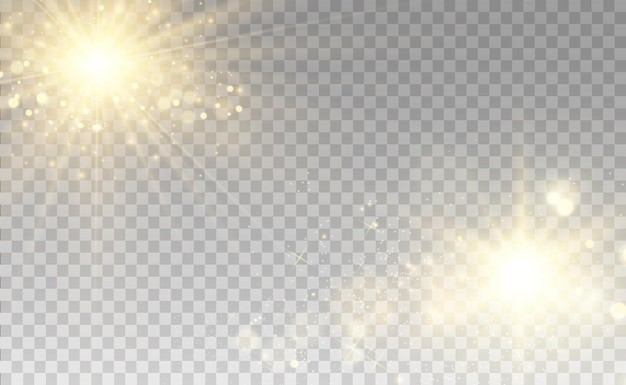 White beautiful light explodes with a transparent explosion vector bright illustration for perfect