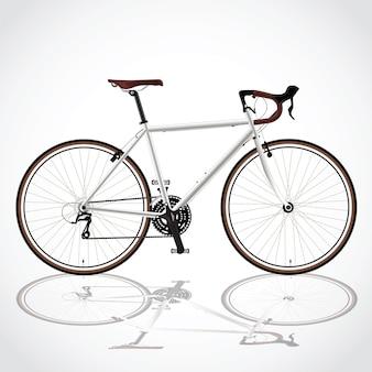 White bicyle