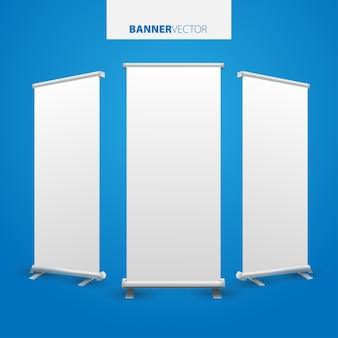 White billboard for advertising