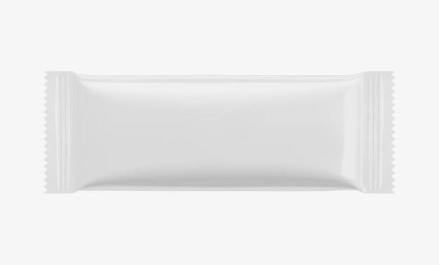 Дизайн упаковки белого бисквитного печенья в 3d иллюстрации