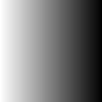 White to black gradient square shape.