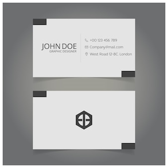 White and black graphic designer business card