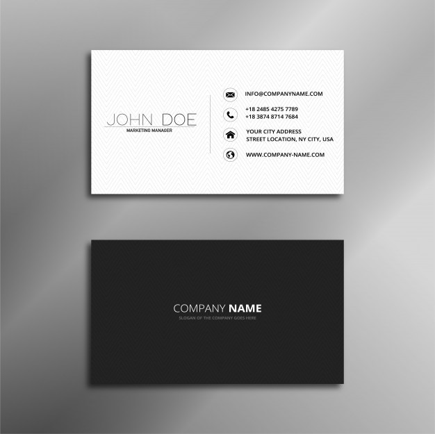White and black simple elegant business card