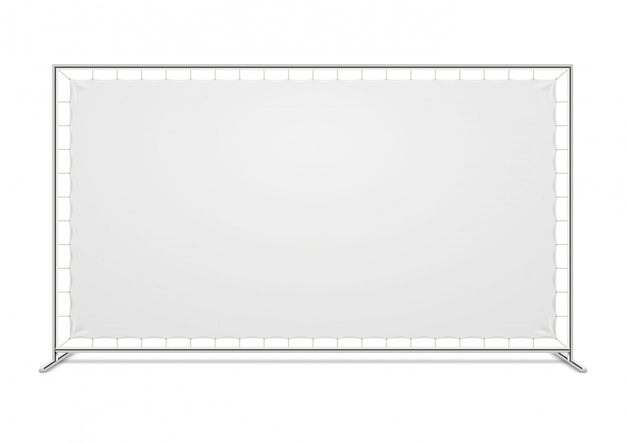 White blank advertising press wall with fabric vector template