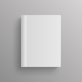 White blank book cover template
