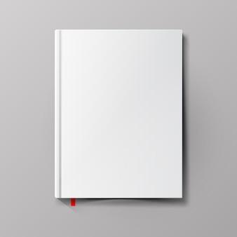 흰색 빈 책 표지.