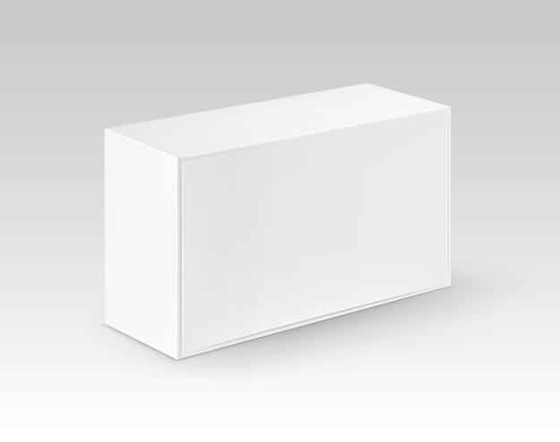 백색 공백 마분지 장방형은 샌드위치를 위해 포장하는 상자를 나 릅니다