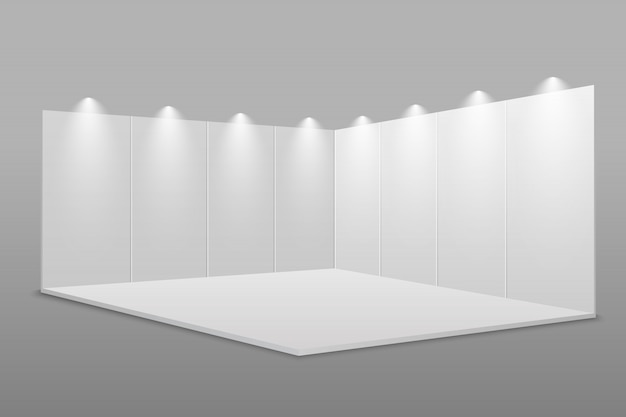 White blank exhibition stand.