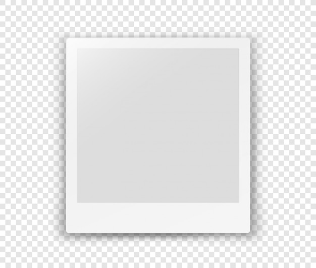 White blank frame isolated on transparent background