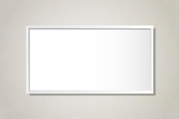 벽에 흰색 빈 프레임
