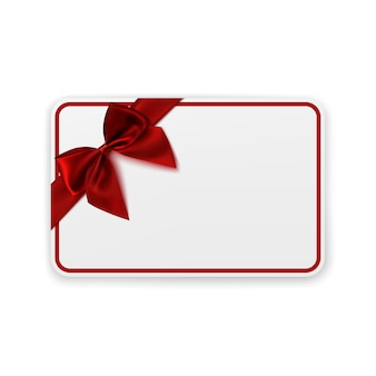White blank gift card template.