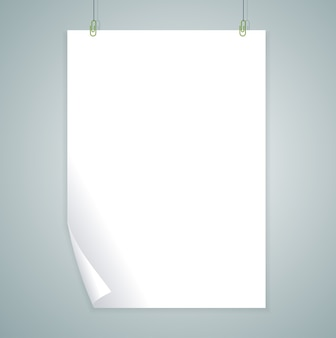 White blank isolated on grey background. . empty template.