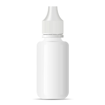 White blank medical eye dropper bottle container
