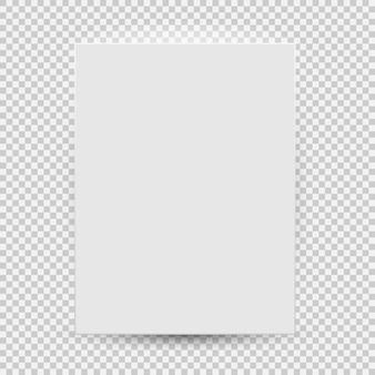 투명 한 배경에 고립 된 그림자와 함께 흰색 빈 모델 템플릿 상위 뷰