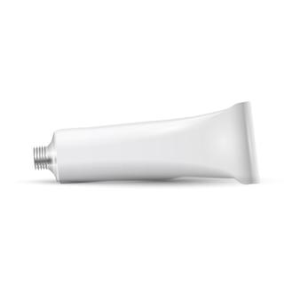 White blank open tube of paint