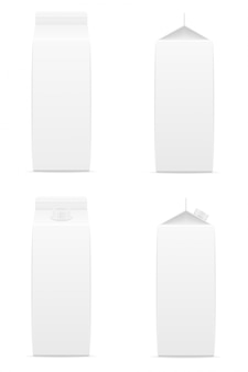 White blank package with juice vector illustration