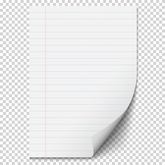 Белый лист бумаги с линиями