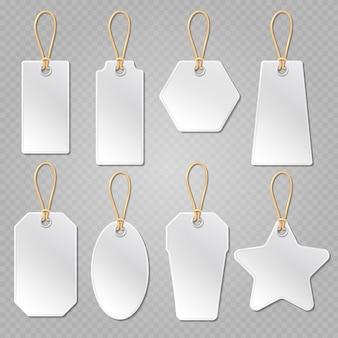 White blank price tags