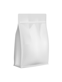 White blank sample bags for goods and products