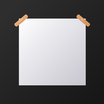 White blank square sheet of paper, mock-up