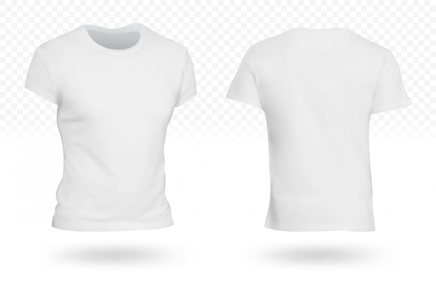 White blank t-shirt template isolated