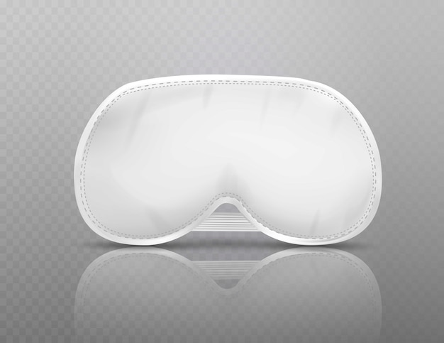 White blindfold isolated