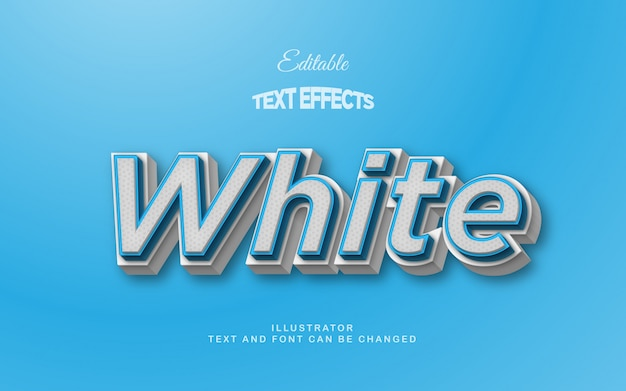 White blue 3d text effect