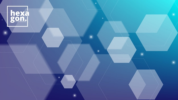 White blue background of hexagons. geometric style. mosaic grid. abstract hexagons deisgn