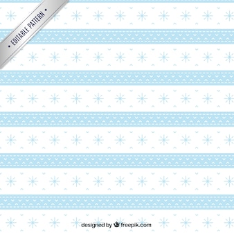 White and blue christmas pattern