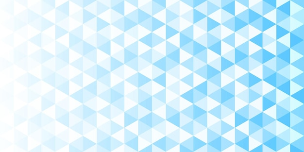 White and blue gradient triangular pattern, abstract geometric polygonal background
