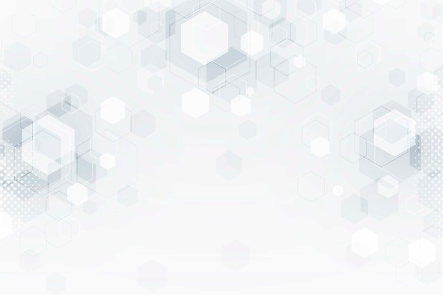 White blurred futuristic technology background