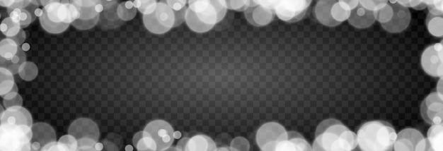 격리 된 투명 배경에 흰색 보케 조명 효과 png 흐리게 보케 png 보케 프레임