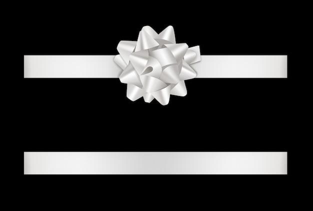 Белый бант и лента