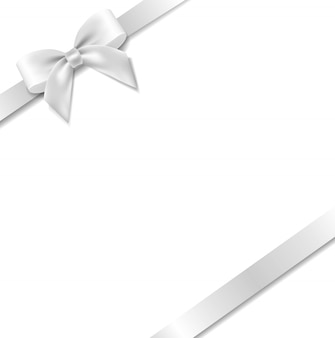 White bow with mint background