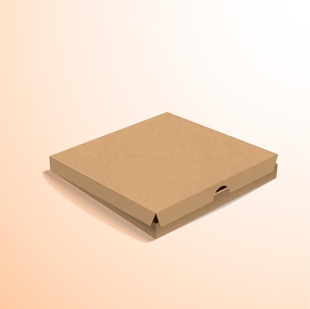 Макет из белого ящика картонная упаковка eps 10