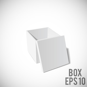 White box mockup  Cardboard Package eps 10